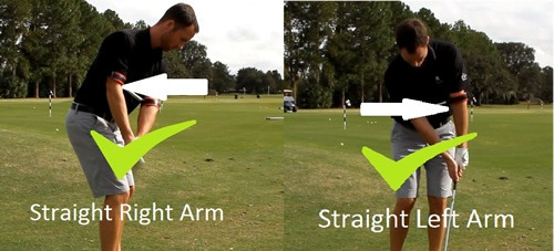 Chipping-down-line-straight-right-arm-straight-left-arm