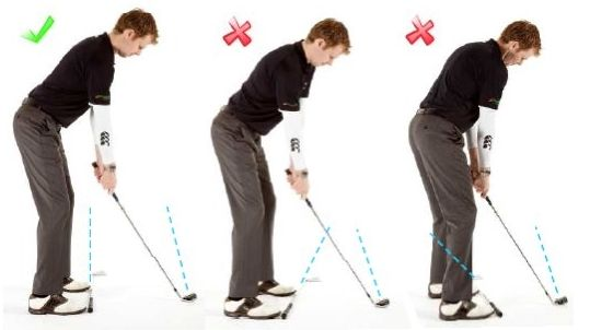 Making a very nice swing adjustment when chipping