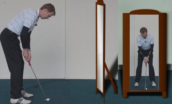 golf in the mirror