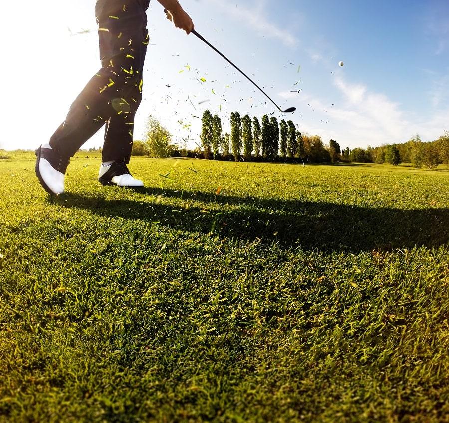 Golfer with Lob Wedge